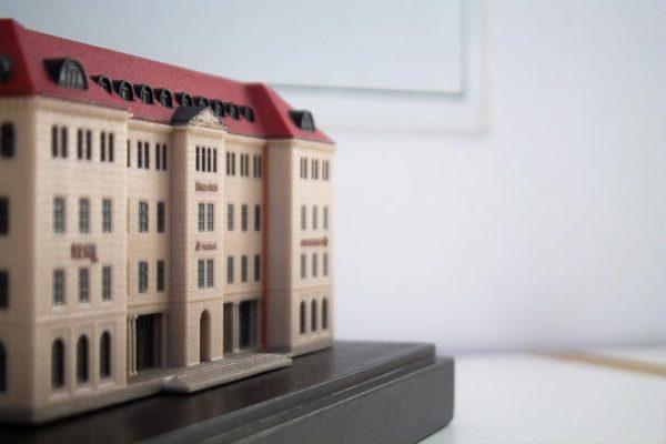 25hours Hotel München The Royal Bavarian 3D-Architektur 3D-Druck