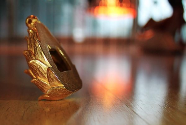 3D-Druck Flaschenöffner Artischocke Vergoldet