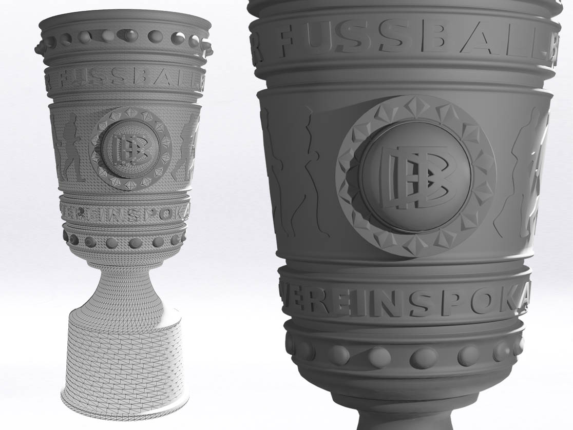 3D-Scan DFB-Pokal 3D-Modell