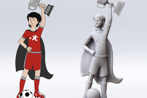 3D-Datenerstellung Pokal Stepstar