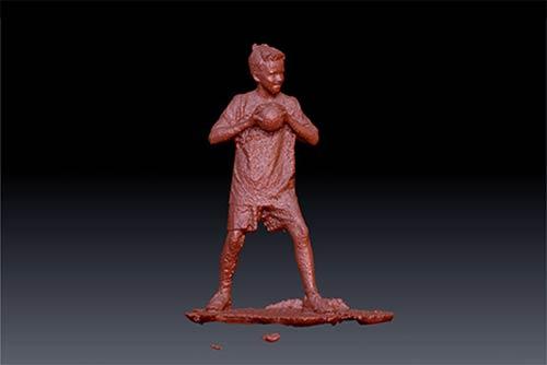 3D-Figuren 3D-Scan Schritt 2: 3D-Scan der Person vor der Bearbeitung