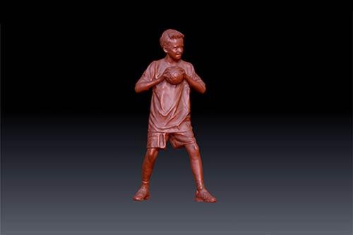 3D-Figuren 3D-Scan Schritt 3: 3D-Modell der 3D-Figur für den 3D-Druck vorbereitet