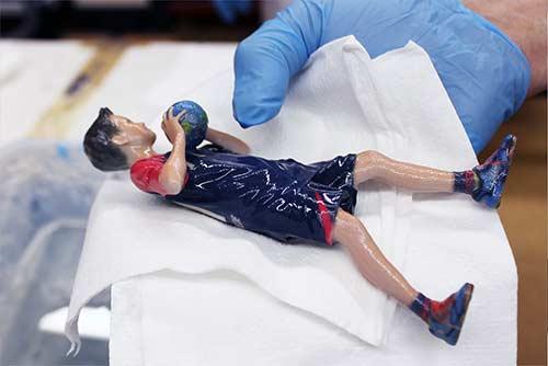 3D-Druck Polymergips 3D-Figuren Schritt 14: Infiltrieren der 3D-Figur
